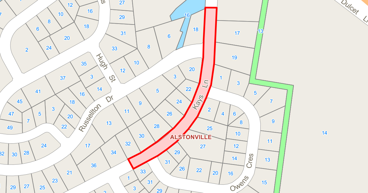 Road Reconstruction - Kays Lane, Russellton Estate, Wollongbar
